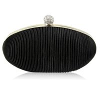 Black evening clutch, satin clutch, metal clutch, women's fashion bags
