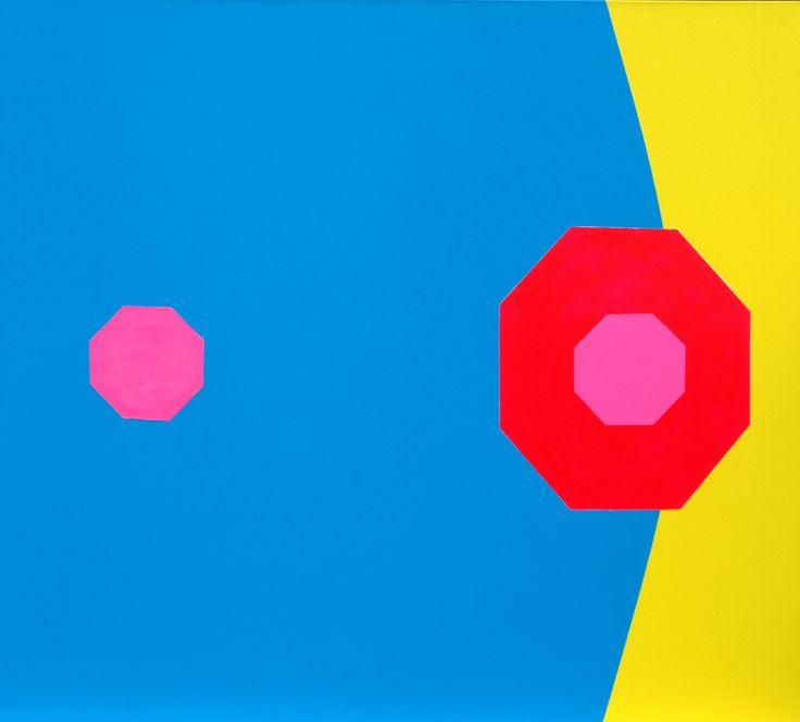 'Tinside' (2011) ~ 40in x 36in ~ acrylic on canvas ~ Chris Billington
