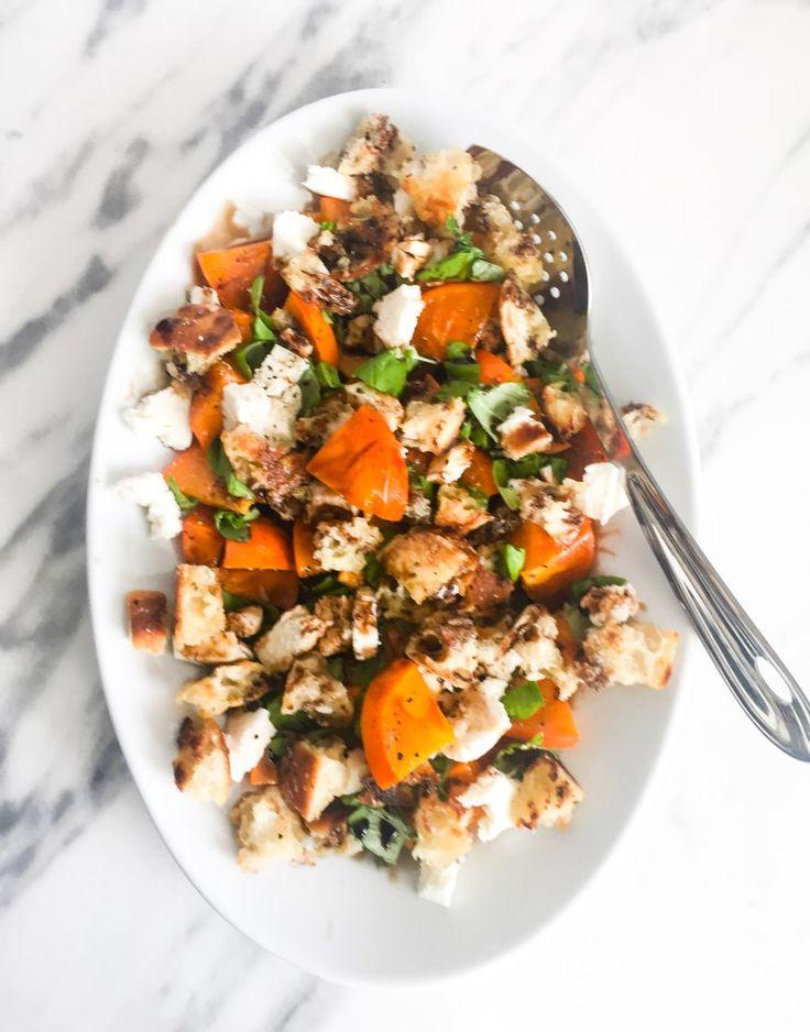 Persimmon Caprese Salad