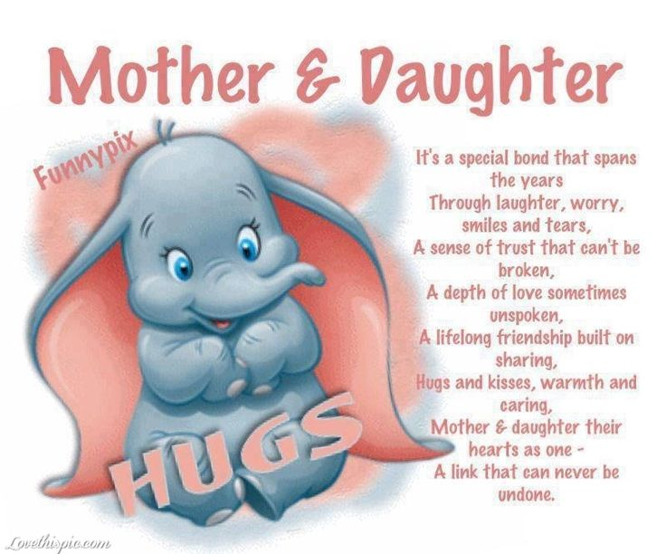 Mother And Daughter Pictures, Photos, and Images for ... I Love You Mommy Quotes From Daughter