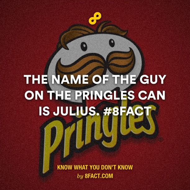 The name of the guy on the Pringles can is Julius.
