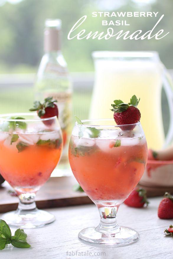 melting pot strawberry basil lemonade recipe http://www.fabfatale.com/2014/07/boozey-tuesdays-strawberry-basil-lemonade/ #boozeytuesdays #summercocktail