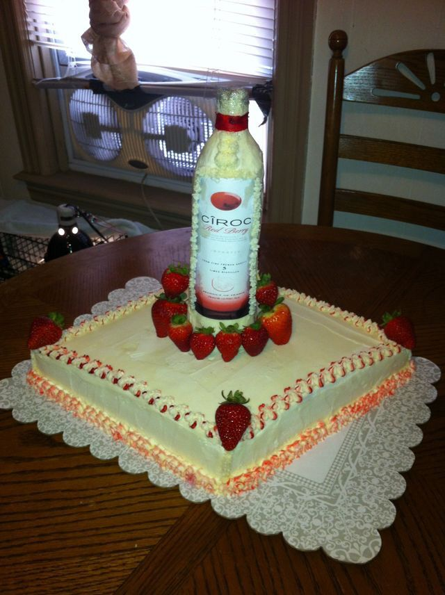 Liquor Bottle Cake Decorations 9 Best Adult Birthday Cake Images On Pinterest  Adult Birthday
