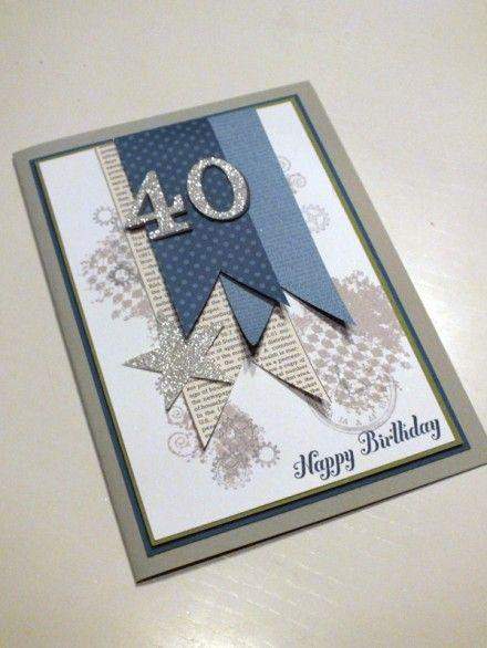 Männerkarten sind ja bekanntlich (auch mit Stampin´Up!) nicht so einfach, und dann auch noch für einen runden Geburtstag UND groß sollte sie sein, damit wir