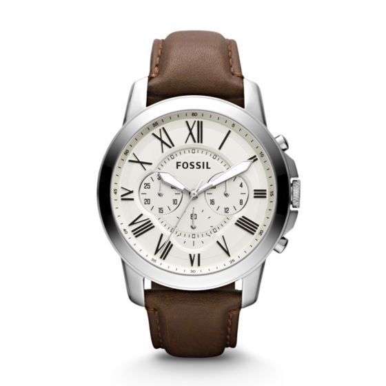 Inspired by the simplicity of vintage timepieces, our Grant watch has a classic appeal. Roman numerals set against a cream dial make this an irresistibly stylish piece. This Grant watch also features a chronograph movement.*Modeled after vintage clocks, our Roman numerals are uniquely designed to provide artistic balance to the dial. In order to create a sense of depth, we also layered the sub-eyes over the numerals, which gives them the effect of being cut off.