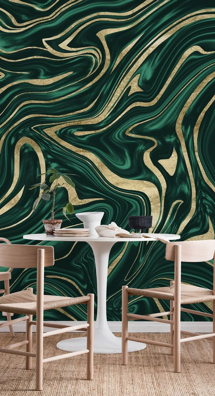 Green Black Gold Marble 1 Wallpaper From Happywall Com Gold Marble Wallpaper Black And Gold Marble Blue Marble Wallpaper
