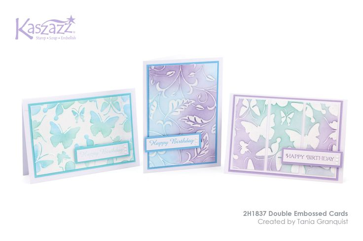 This project will show you how to create these three versatile cards using two different types of embossing and Distress Inks.