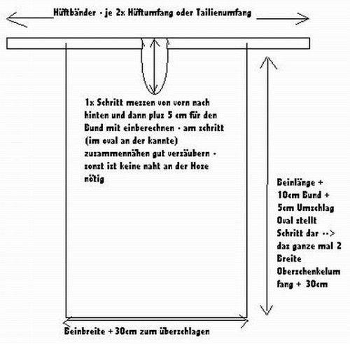 Wickelhose Schnitt