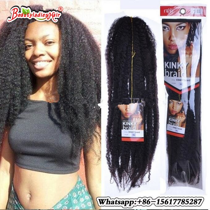 30Roots Crochet Marley Braids Hair 18'' Afro Kinky Soft Twist Ombre Hair Extensions Low Temperature Fiber