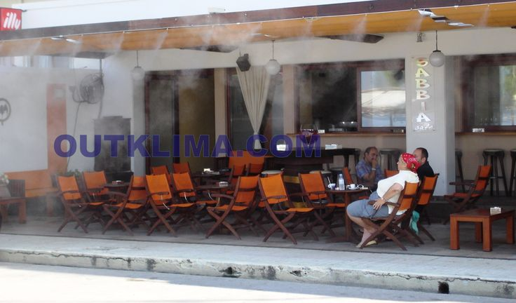 misting at coffe shop