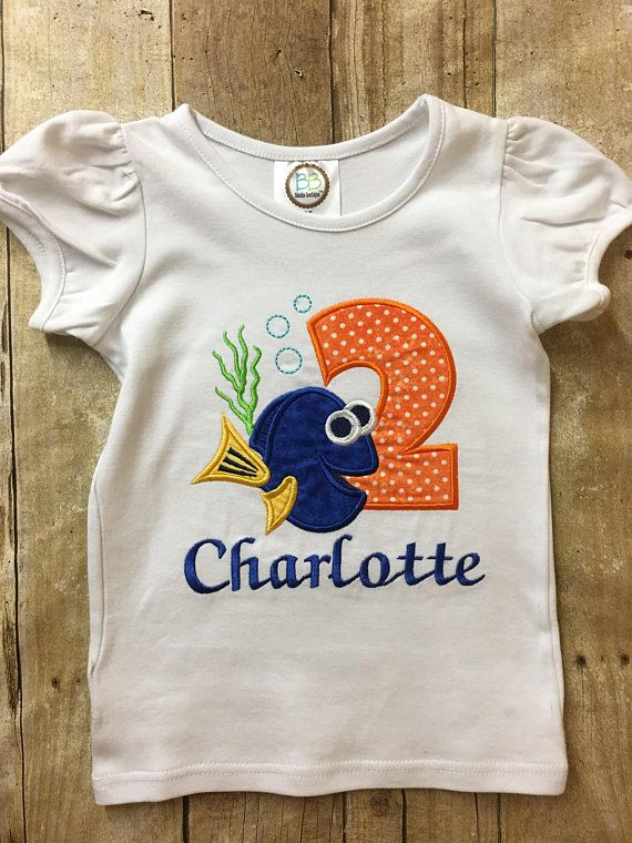 2nd Birthday Dory Shirt Personalized Outfit Girl
