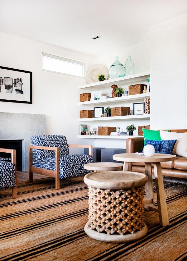 Natural textures and Indigo blue in Cottlesloe   Designhunter - architecture & design blog