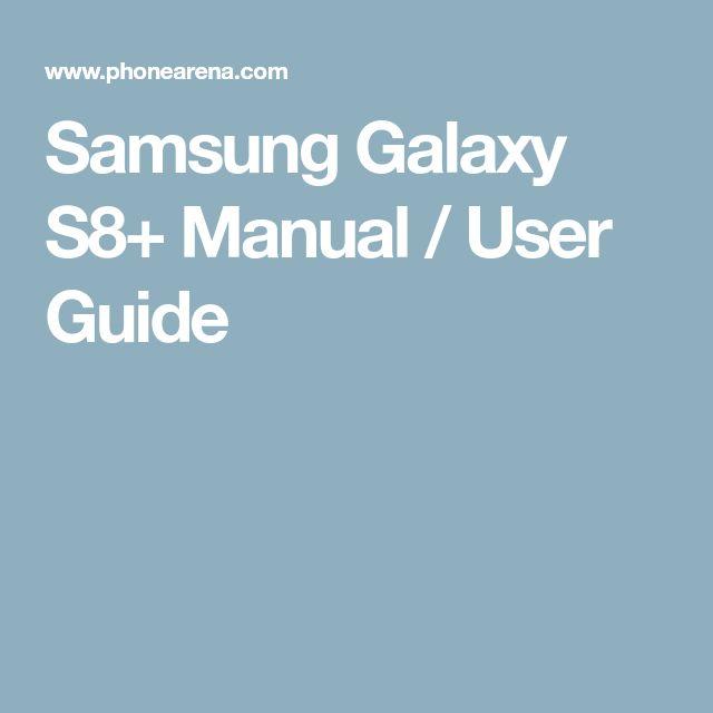 Samsung Galaxy S8+ Manual / User Guide