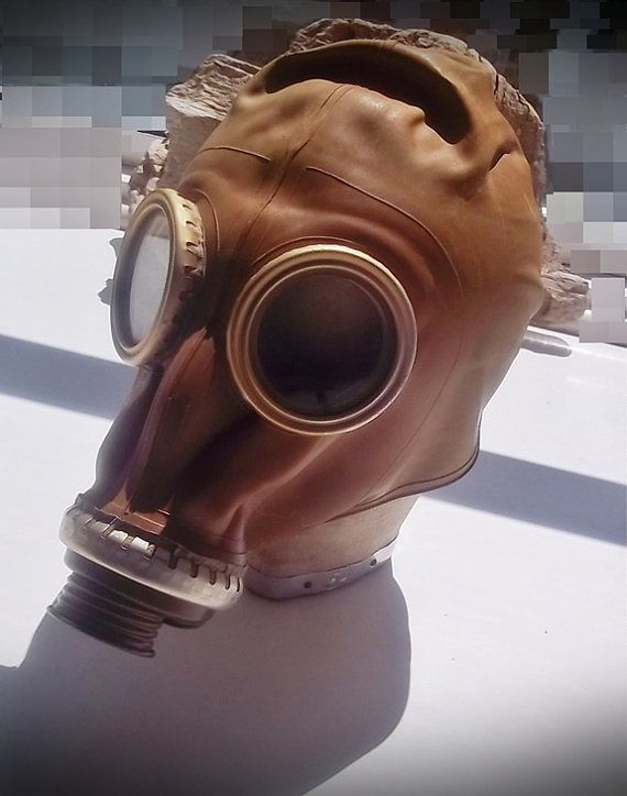 A bit of Steampunk - Goth fun    Gas Mask  Vintage 1970s Russian Gas Mask by thevintagearcade, $34.00