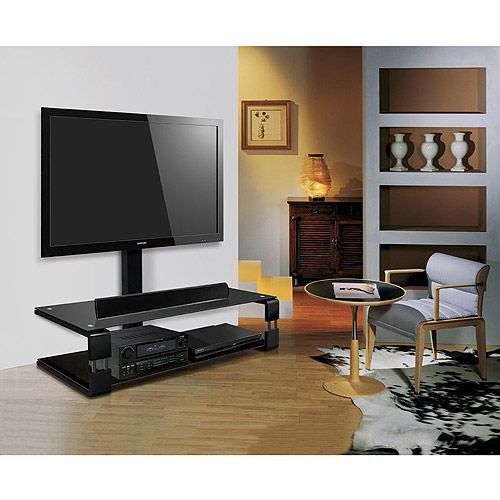 BellO TV Stand with Swivel Mount, BellO TV Stand with Mount for TVs up to 55, Universal Audio / Video Stand