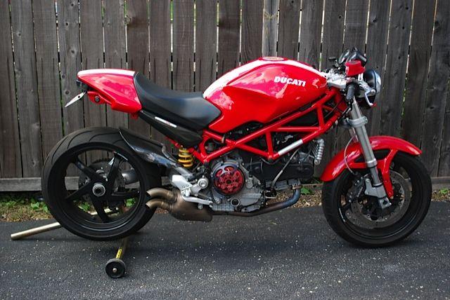 2008 Ducati Monster S2R 1000 Turn down exhaust