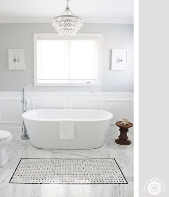 glamorous white bathroom, I love white bathrooms, they feel so clean.