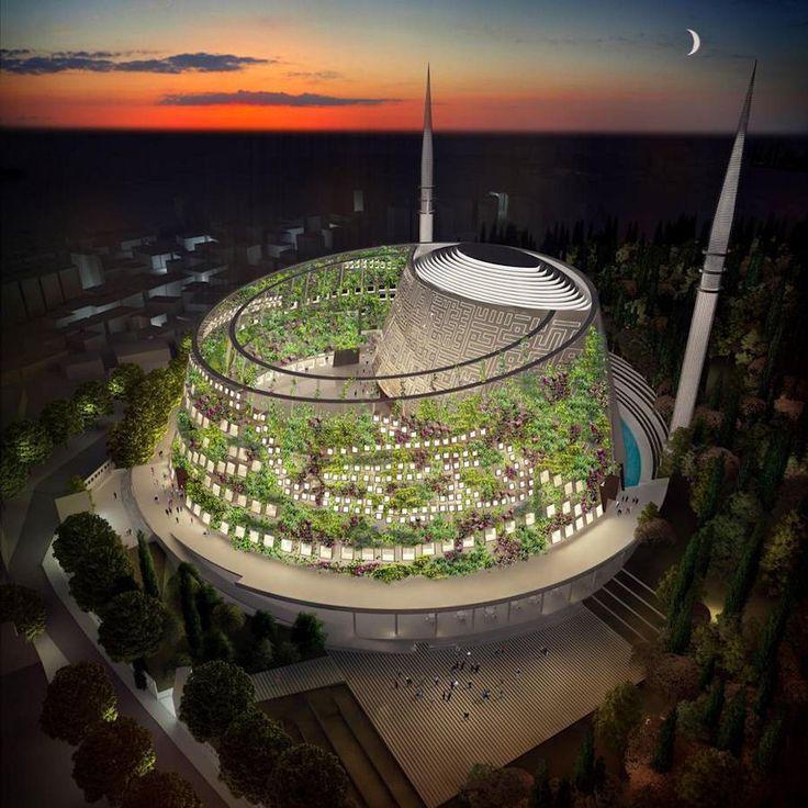 Arkitera - Perspektif   Tuncer Cakmakli.  Mosque Project. Turkey