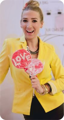 Vivi with lollipops @ Cukorka - Sweetfabrick, Budapest