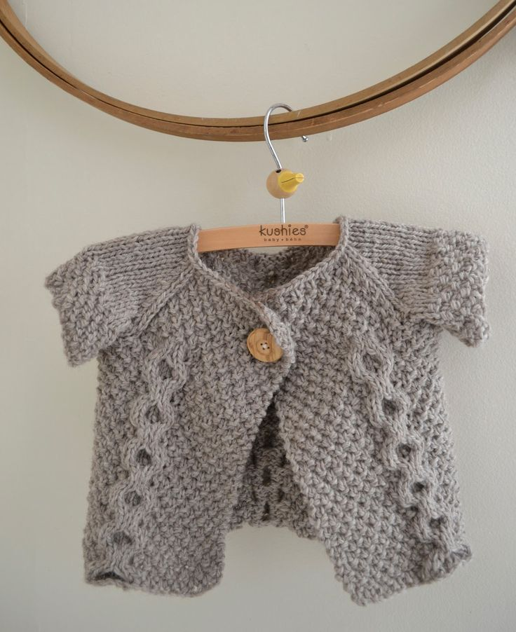 Free Knitting Pattern - Baby Knits: Double Breasted Baby Sweater