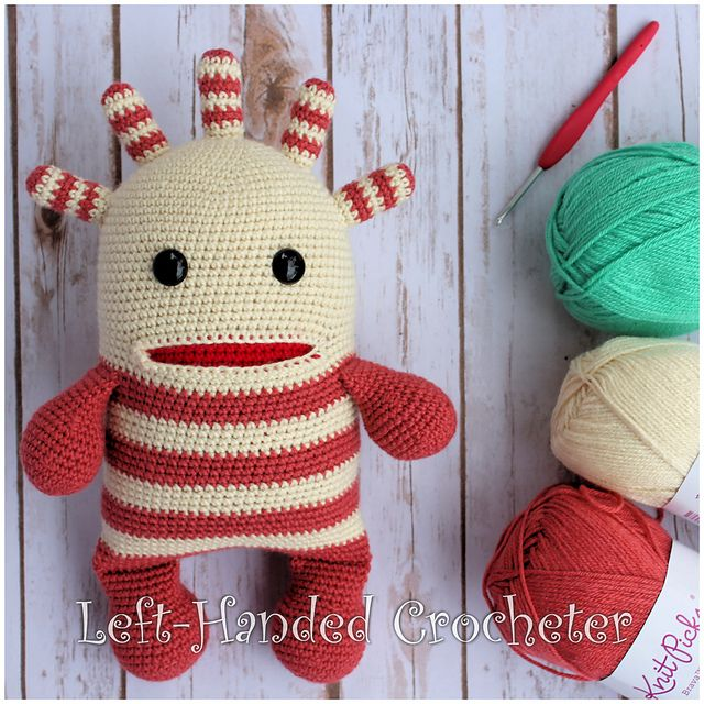 Ten Free Crochet Monster Patterns | Shiny Happy World | 640x640