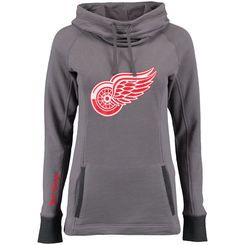 Detroit Red Wings Women's Laguna Cowl Neck Pullover Sweatshirt - Gray
