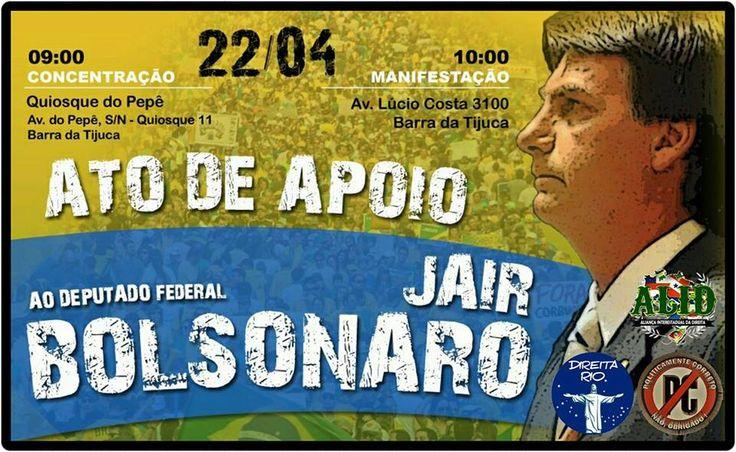 Ato de apoio ao @jairbolsonaro pelo #Bolsonaro2018 #LavaJatoEuApoio #LulaNaCadeia Já #SOSFFAA Brasil