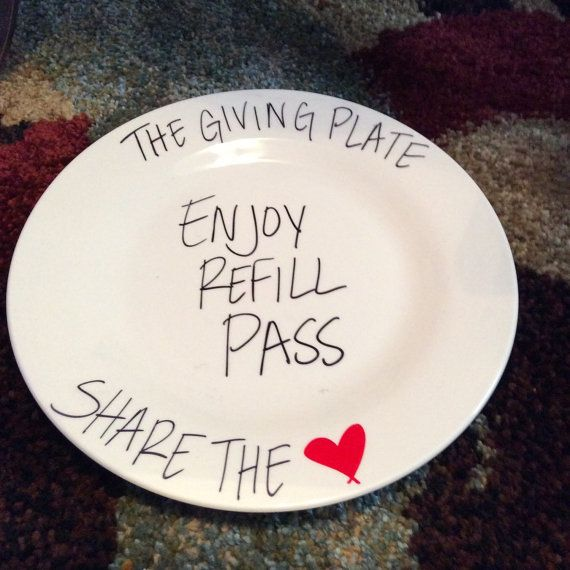 The Giving Plate by AMBEEbyAmber on Etsy