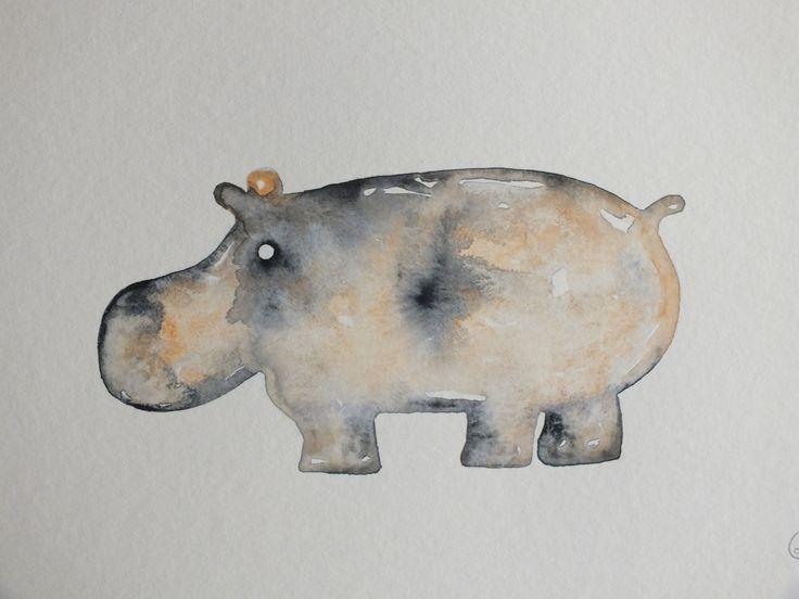 HANDMADE Watercolor on paper 20x30 cm  FOR SALE: www.laurakamphuis.com