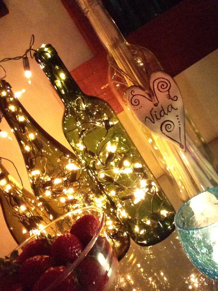 Decoração da festa de ano novo.