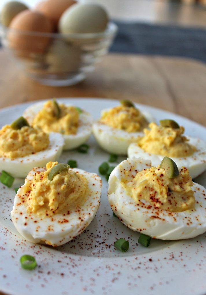 Easy No Mayo Deviled Eggs Recipe Food Summer Bbq Recipes