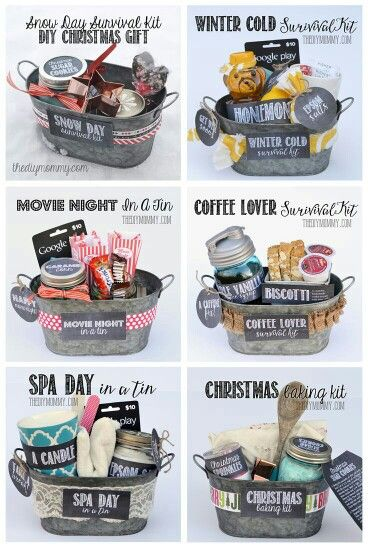 DIY Gift Basket Ideas : for Spa Day , Coffee Lovers, Winter Christmas & Movie Night. G;)