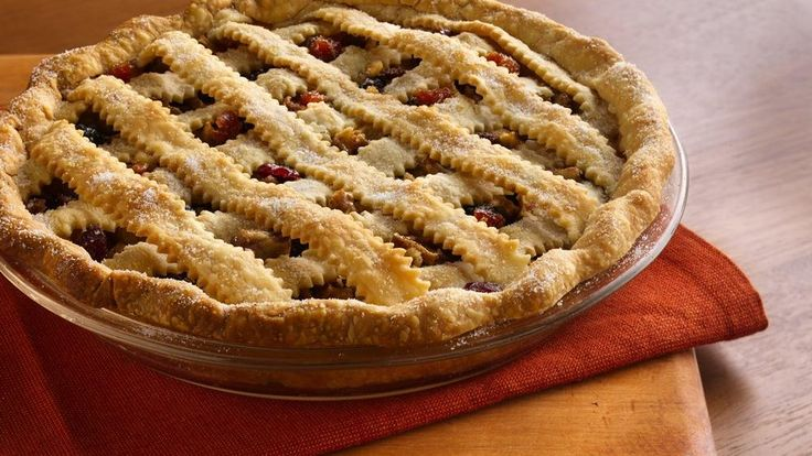 This pie is chock full of apples, dried fruit and nuts.  No wonder it won the State Fair Pie Contest and went on to win at the national Pillsbury® Refrigerated Pie Crust Championship in 2007!