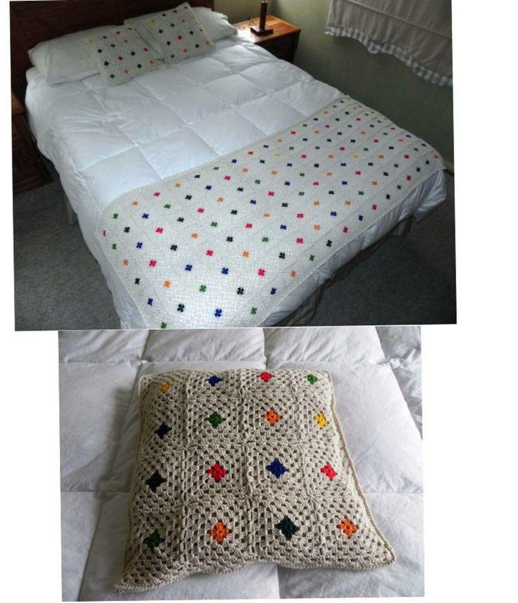 Piecera y cojínes a crochet - Magdalena Matamala @Bazaart