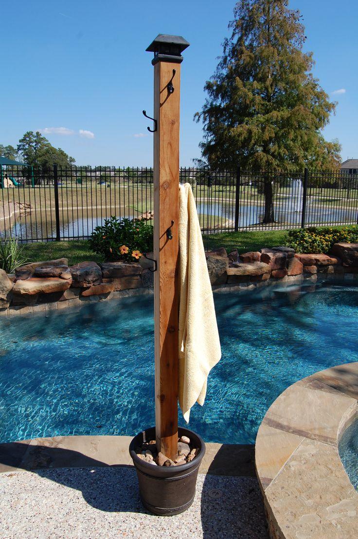 Poolside Towel Rack  OuTSidEStufF  Towel rack pool Pool towels Pool storage