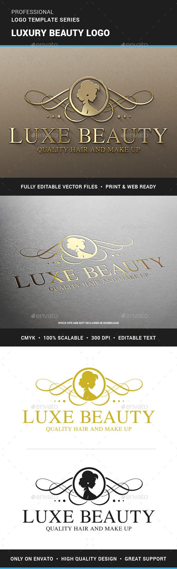 30 Hair Salon Logo Designs Ideas Examples Design Trends Premium - Luxury beauty logo template