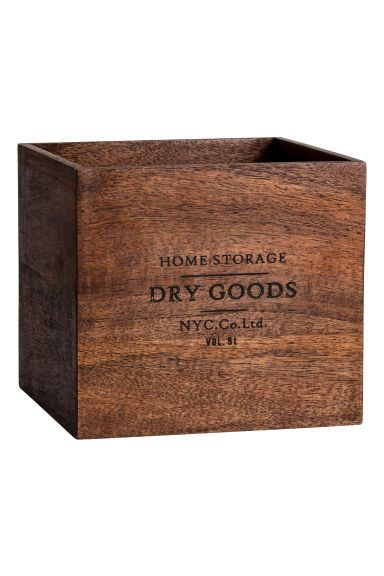 Malý dřevěný box - Tmavě hnědá - HOME | H&M CZ 1