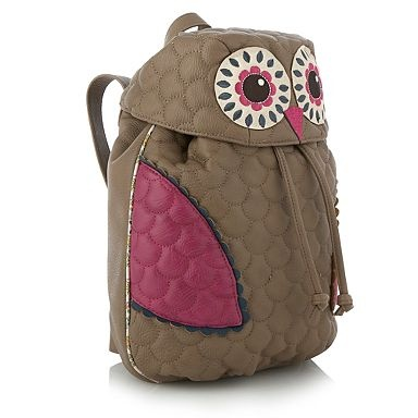 Taupe owl backpack - Sports bags - Handbags & purses - Women -