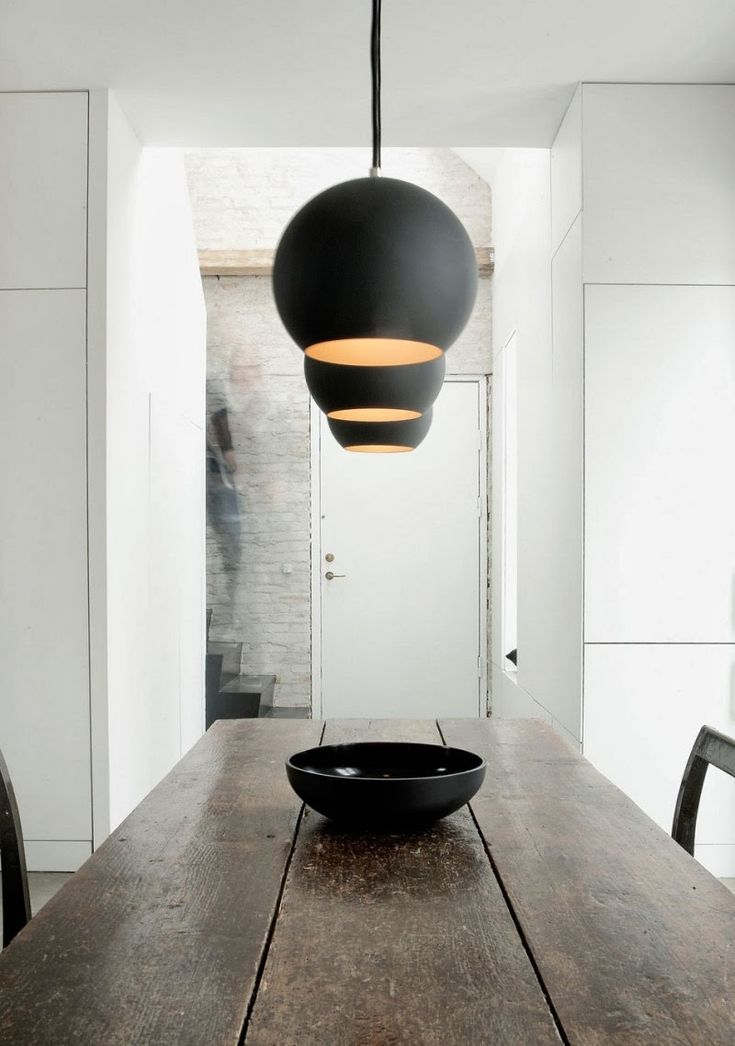 | LIGHTING | #black accents. An artist's home in black, white and concrete. #NormArchitects