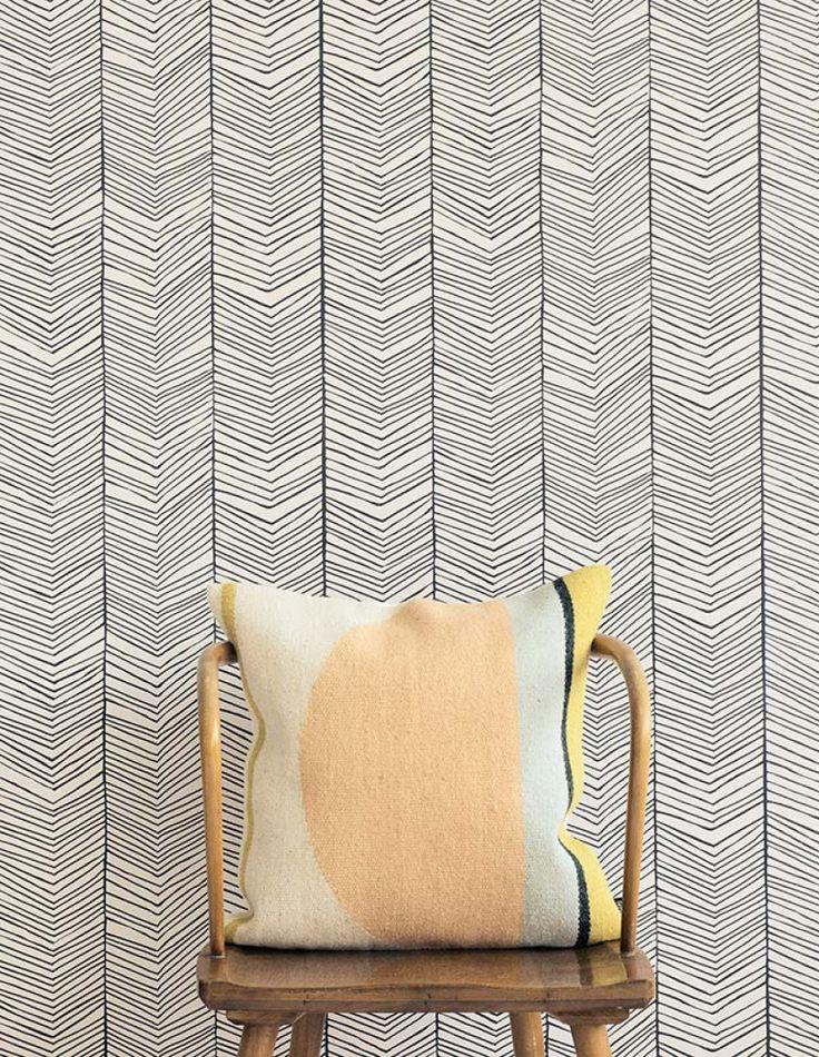 Herringbone   Papel de parede geométrico   Padrões de papel de parede   Papel de parede dos anos 70