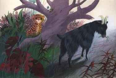 Jolanta Marcolla - ilustracja do: Czesław Janczarski 'Tygrys o złotym sercu' 1988