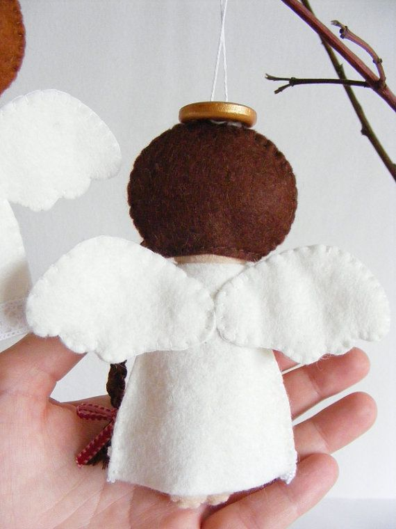PDF pattern - Felt angels. Christmas tree ornaments, boy and girl angels, easy…