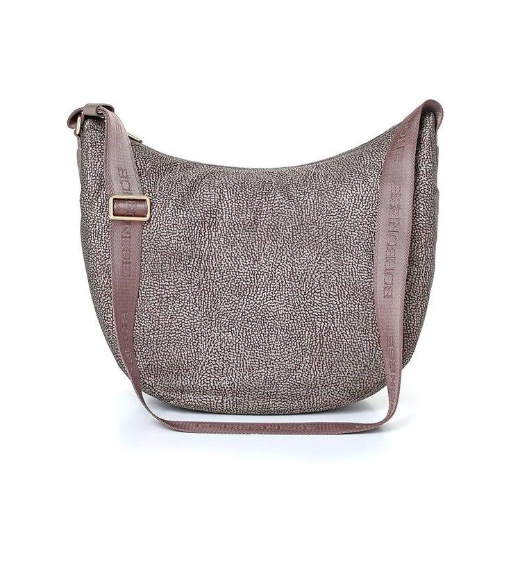 Luna Bag Fango small BORBONESE Acquistabile on line su www.la-borsa.it