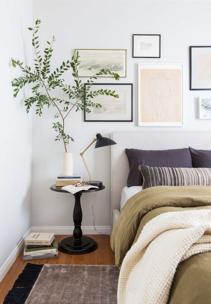 Various Art Shapes Above Bed. See More. 1 Bedroom 4 Ways With The Citizenry    Emily Henderson
