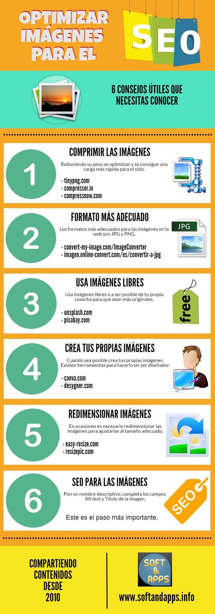 Te ofrezco 6 útiles consejos que te servirán para optimizar imágenes para SEO. Los elementos visuales son muy importantes para el posicionamiento web.