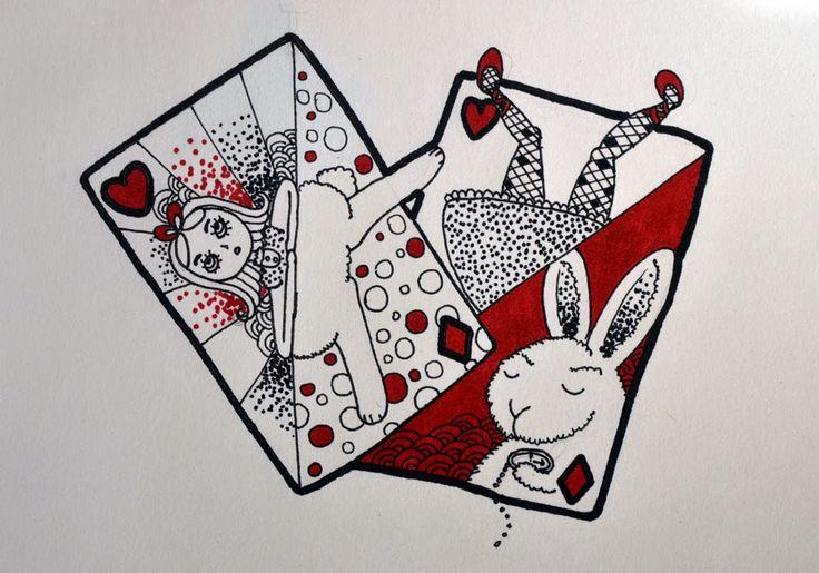 Draw Alice in Wondeland