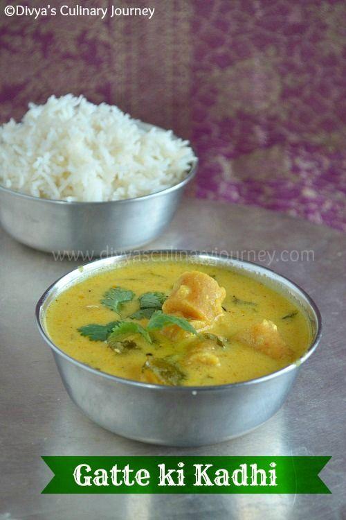 Divya's culinary journey: Gatte ki Kadhi