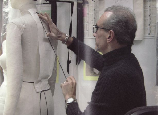 Couture sewing techniques. Video of Chanel couture dress draping and fabrication.