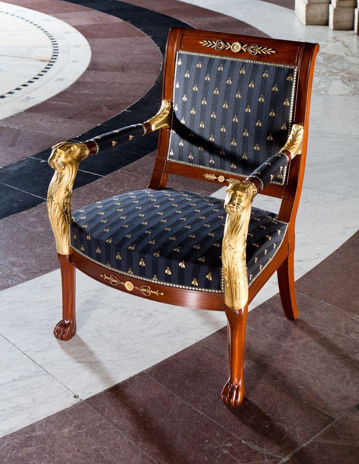 Armstoel uit de salon van de kroonprins_Geleverd door Joseph Cuel (1763-1846)_Fotograaf Qiu Yang_copyright Stichting Koninklijk Paleis Amsterdam