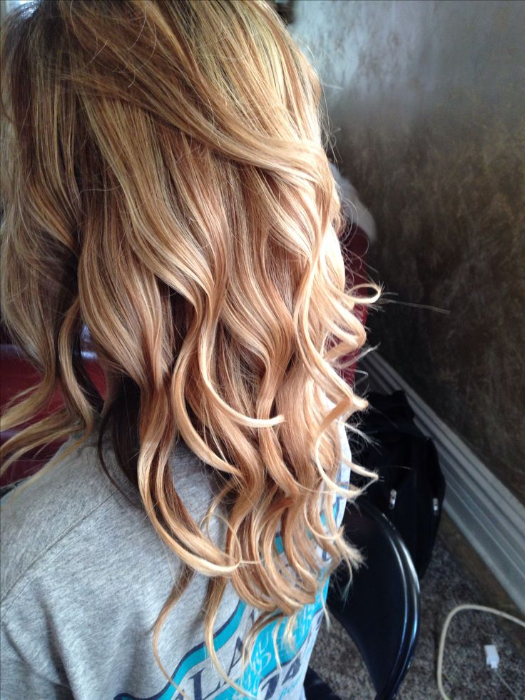 Carmel and blonde high lights! Love this color!